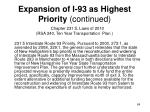expansion of i 93 as highest priority continued