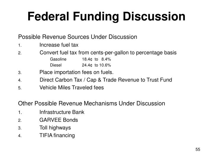 Federal Funding Discussion