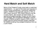 hard match and soft match