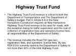 highway trust fund