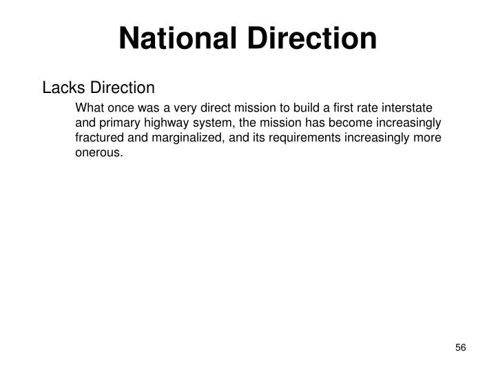 National Direction