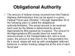 obligational authority