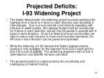 projected deficits i 93 widening project