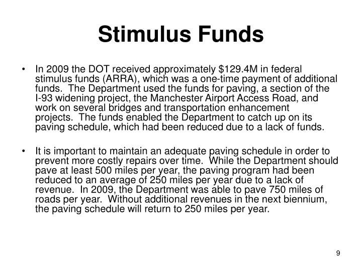 Stimulus Funds