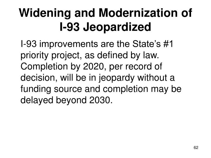 Widening and Modernization of