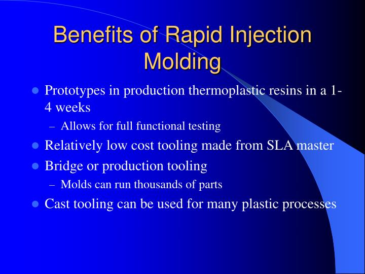 Benefits of Rapid Injection Molding