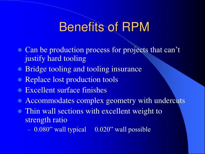 Benefits of RPM
