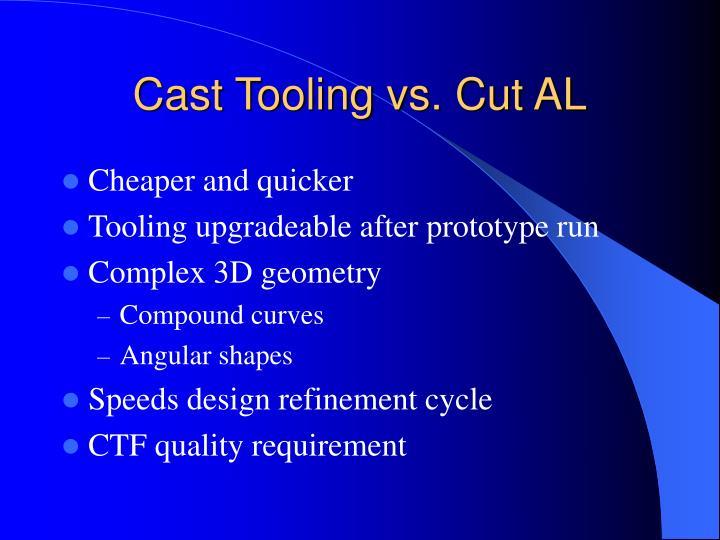 Cast Tooling vs. Cut AL