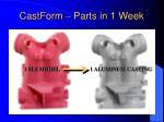 castform parts in 1 week