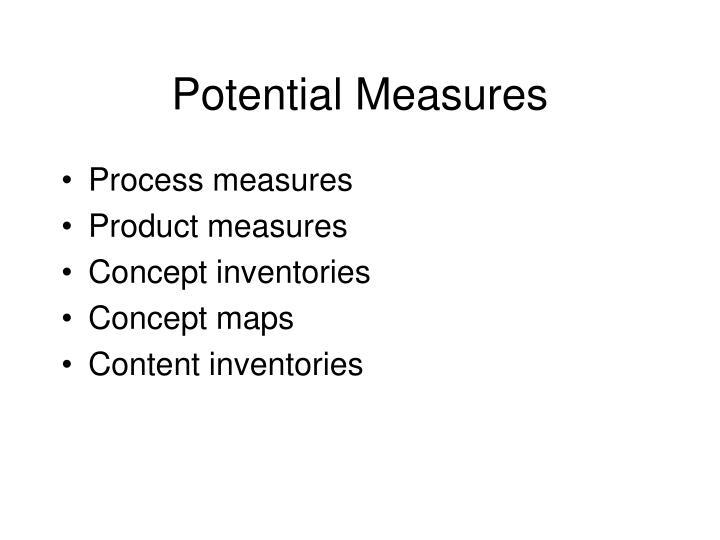 Potential Measures
