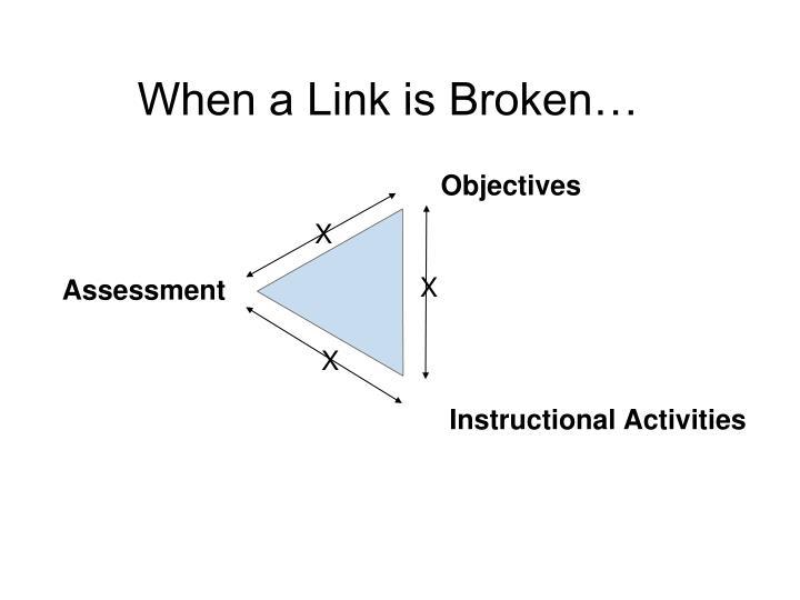 When a Link is Broken…
