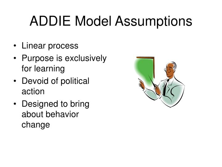 ADDIE Model Assumptions