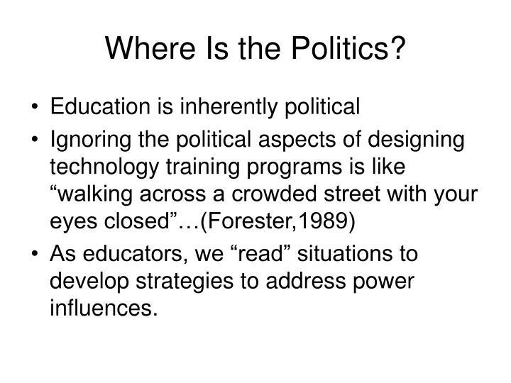 Where Is the Politics?