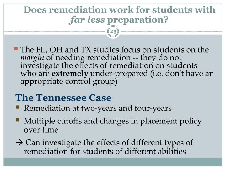 Does remediation work for students with