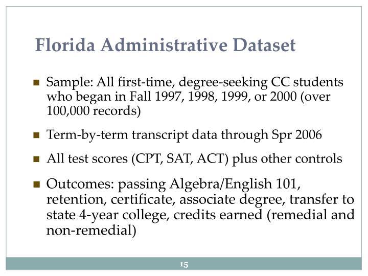 Florida Administrative Dataset