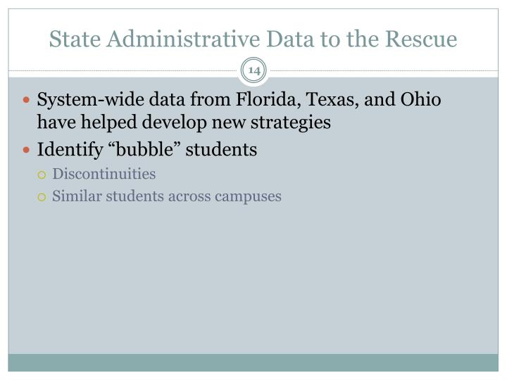 State Administrative Data to the Rescue