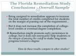 the florida remediation study conclusions overall sample