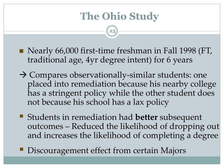 The Ohio Study