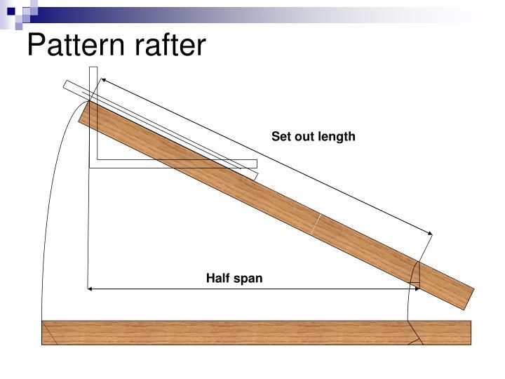 Pattern rafter