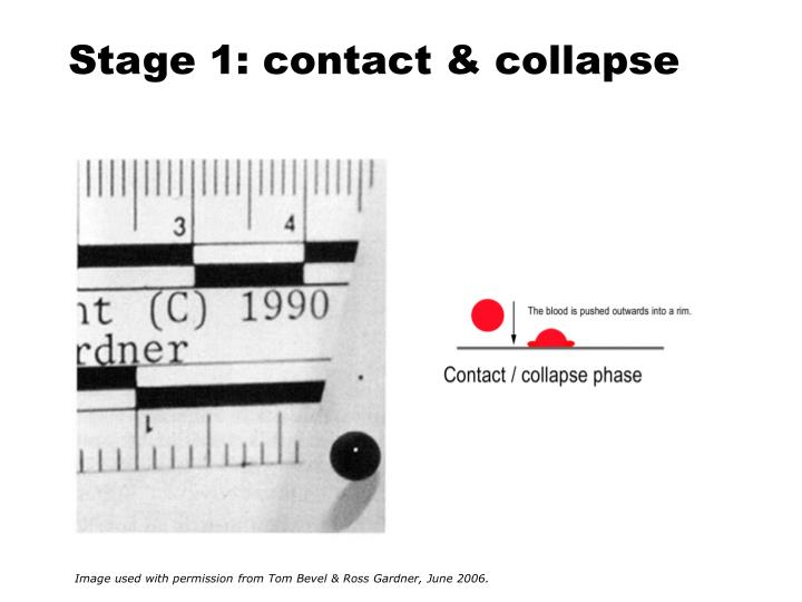 Stage 1: contact & collapse