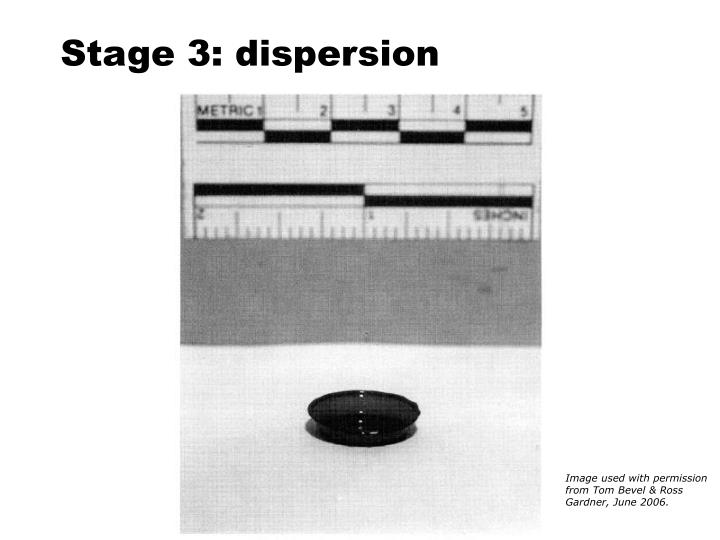 Stage 3: dispersion