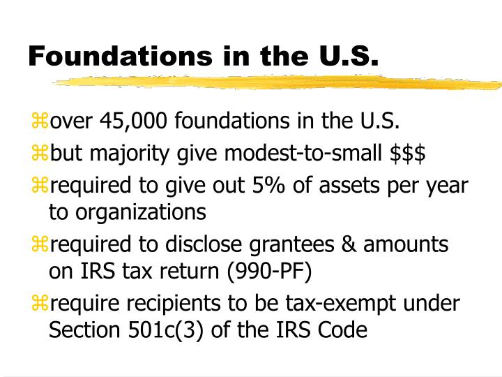 Foundations in the U.S.