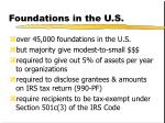 foundations in the u s