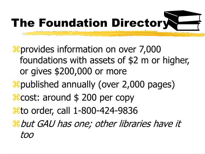 The Foundation Directory