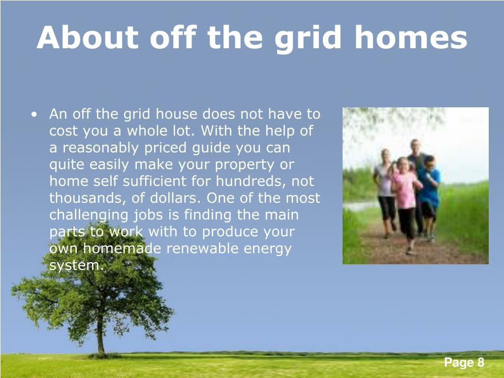 About off the grid homes