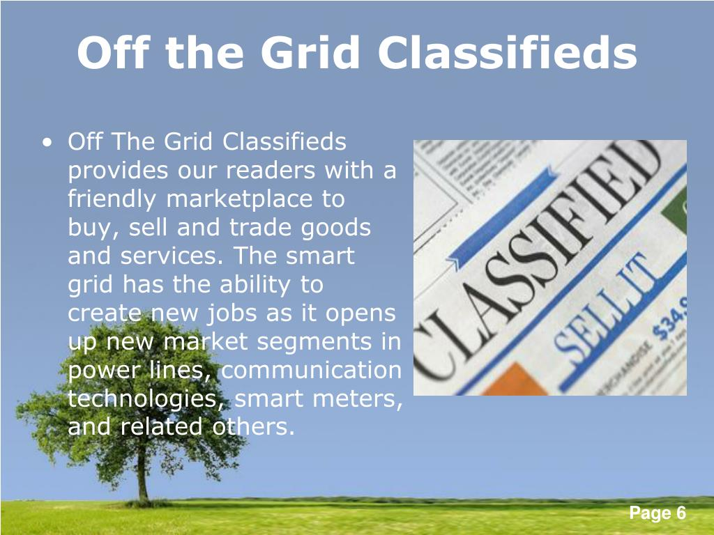Off the Grid Classifieds