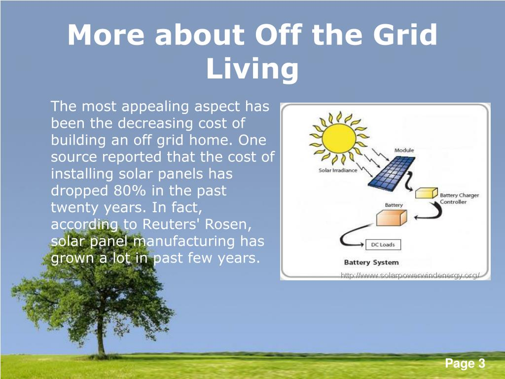 More about Off the Grid Living
