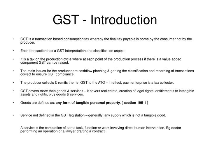 Gst introduction