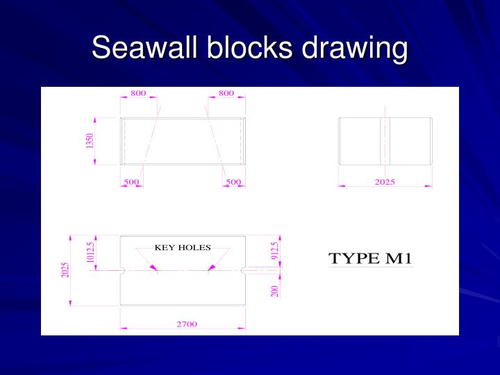 Seawall blocks drawing