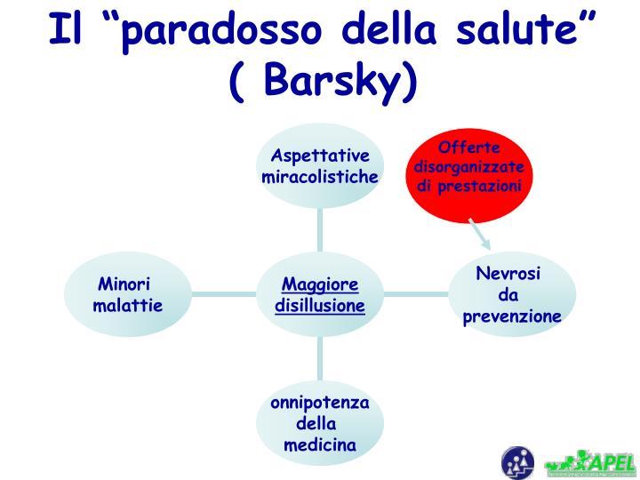 """Il """"paradosso della salute""""  ( Barsky)"""