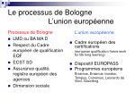 le processus de bologne l union europ enne