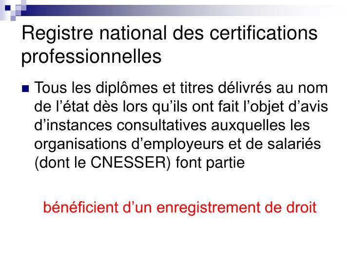 Registre national des certifications professionnelles