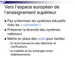 vers l espace europ en de l enseignement sup rieur13