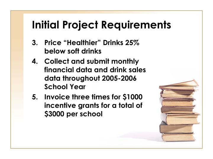 Initial Project Requirements