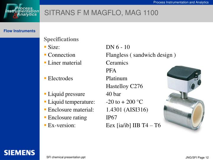 SITRANS F M MAGFLO, MAG 1100