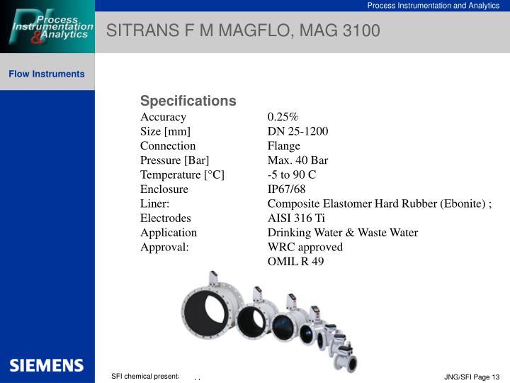 SITRANS F M MAGFLO, MAG 3100