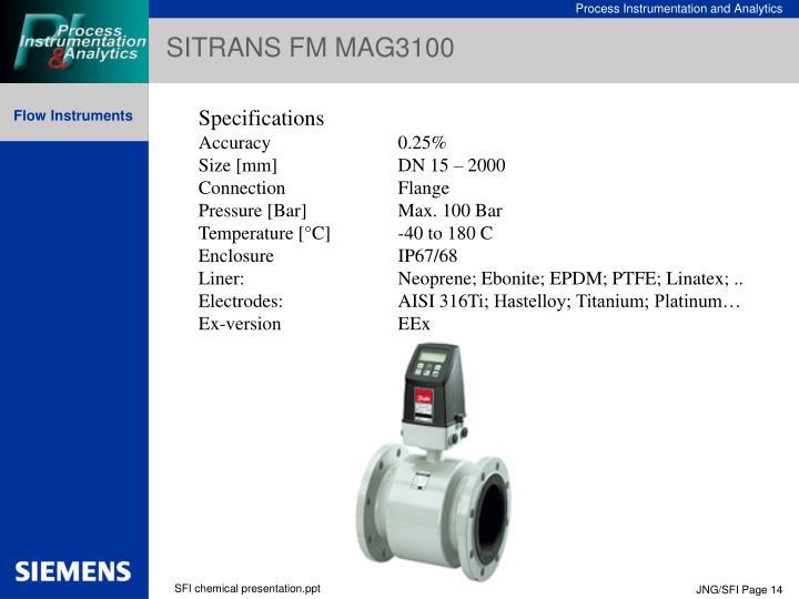 SITRANS FM MAG3100