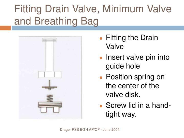 Fitting Drain Valve, Minimum Valve and Breathing Bag