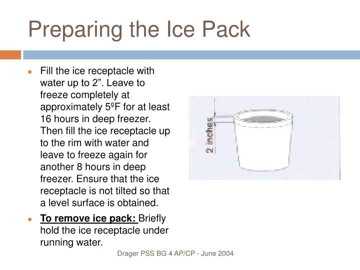 Preparing the Ice Pack