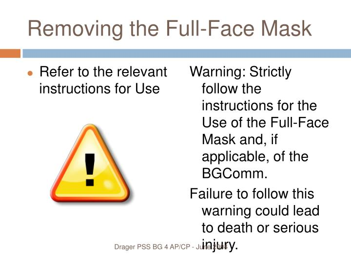 Removing the Full-Face Mask