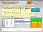 median mdx