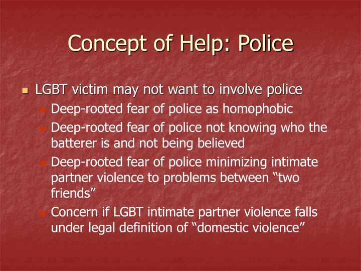 Concept of Help: Police