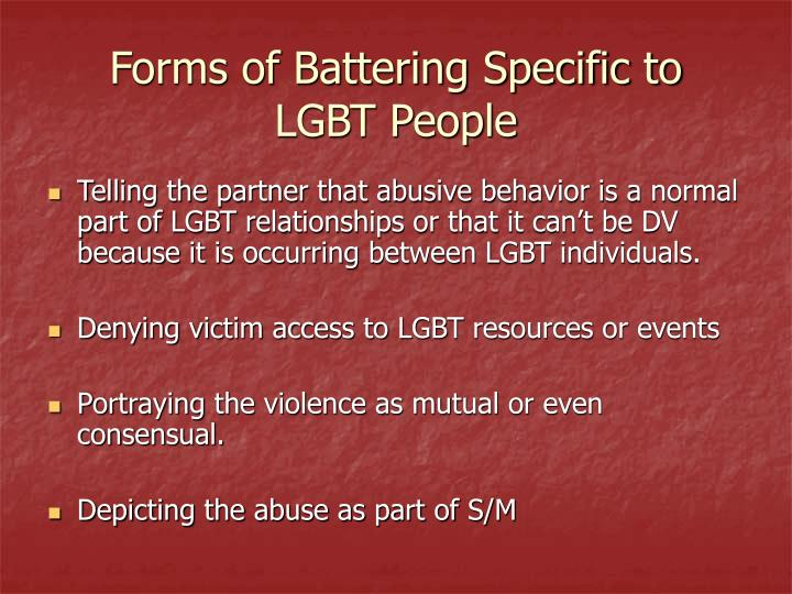 Forms of Battering Specific to