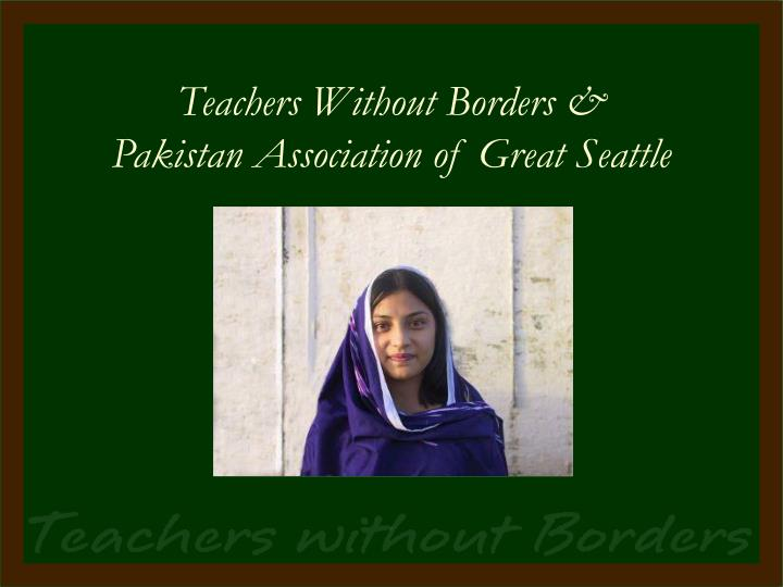 Teachers Without Borders &