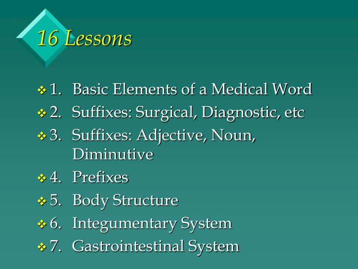 16 Lessons