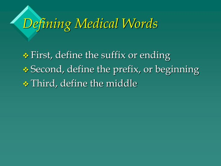 Defining Medical Words